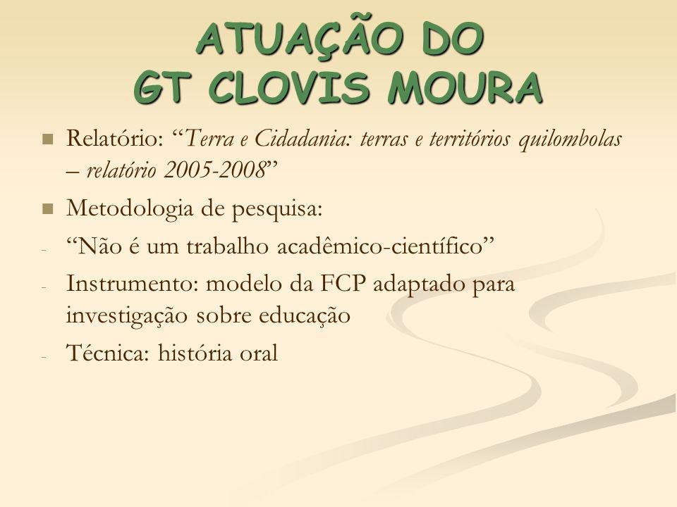 ATUAÇÃO DO GT CLOVIS MOURA