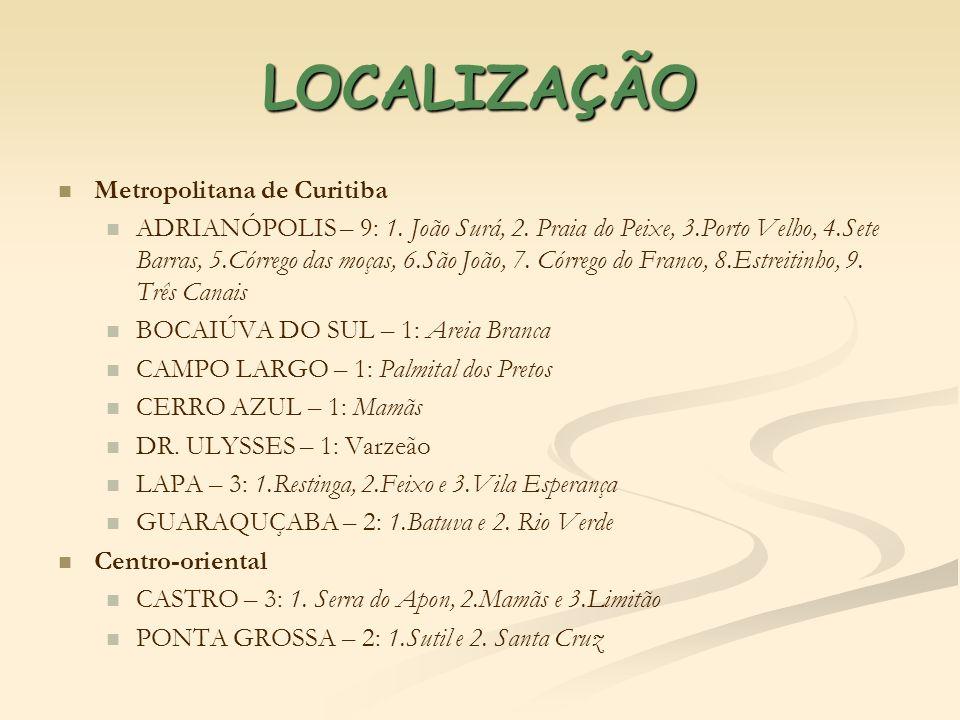 LOCALIZAÇÃO Metropolitana de Curitiba