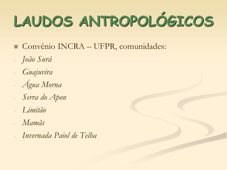 LAUDOS ANTROPOLÓGICOS