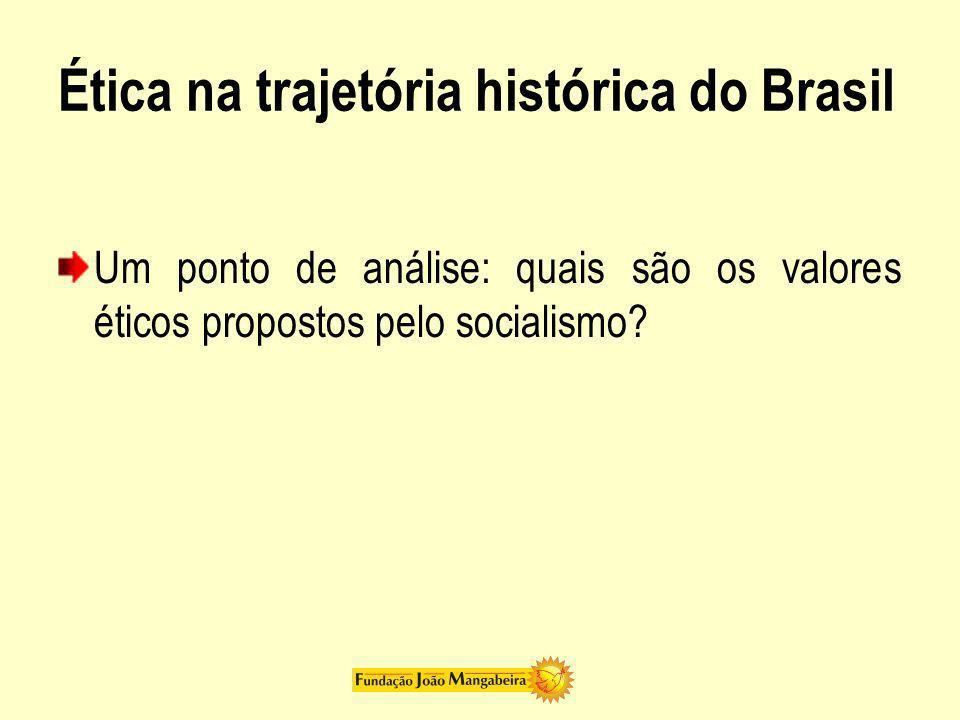 Ética na trajetória histórica do Brasil