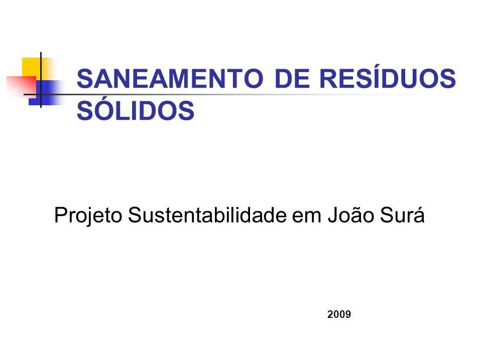 SANEAMENTO DE RESÍDUOS SÓLIDOS