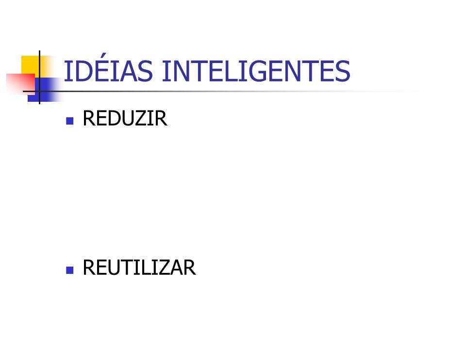 IDÉIAS INTELIGENTES REDUZIR REUTILIZAR