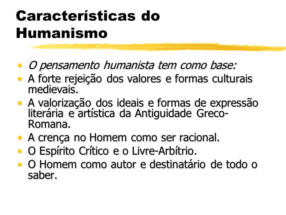 Características do Humanismo