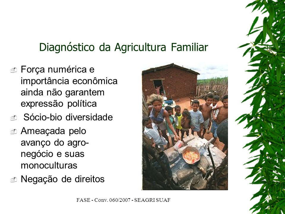 Diagnóstico da Agricultura Familiar