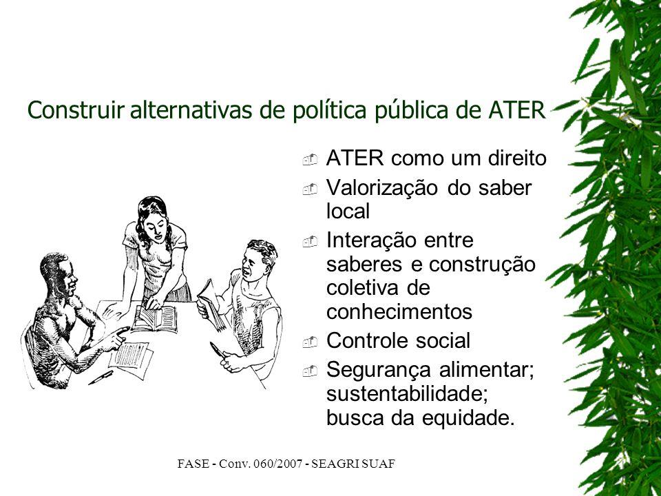 Construir alternativas de política pública de ATER