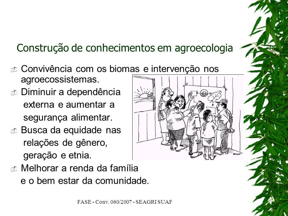 Construção de conhecimentos em agroecologia