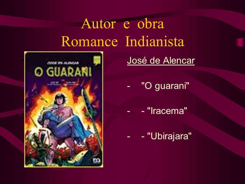 Autor e obra Romance Indianista