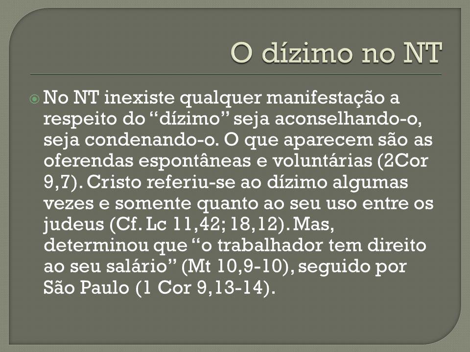 O dízimo no NT