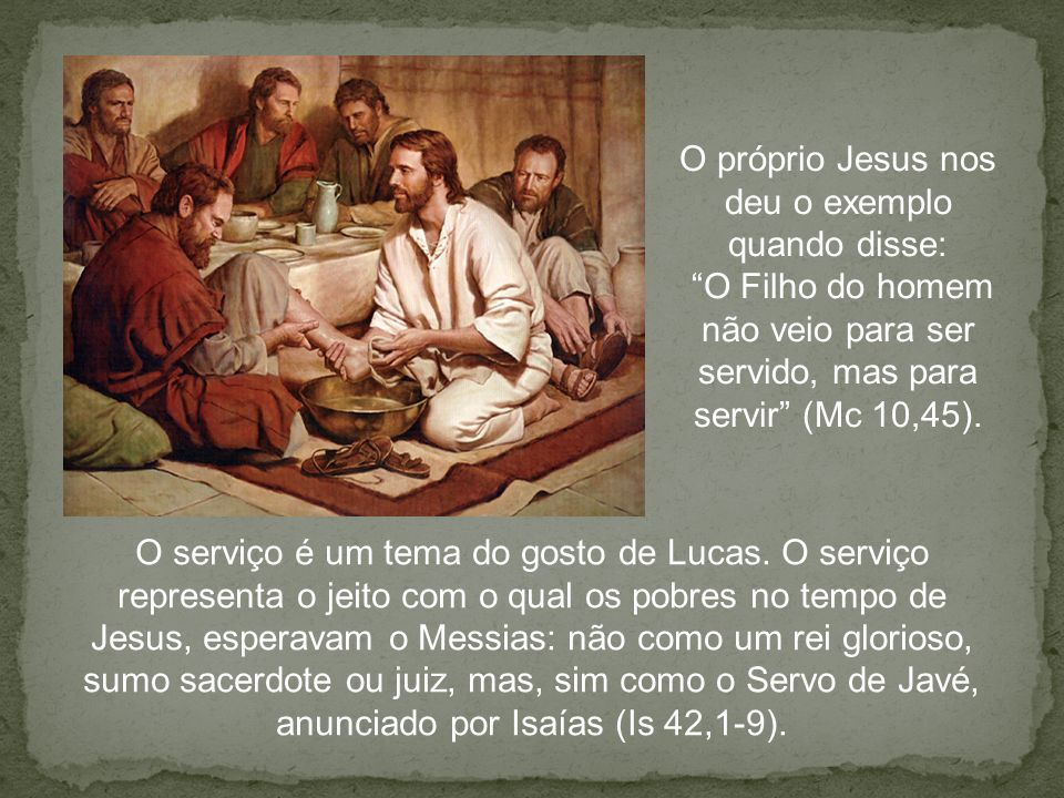 O próprio Jesus nos deu o exemplo quando disse: