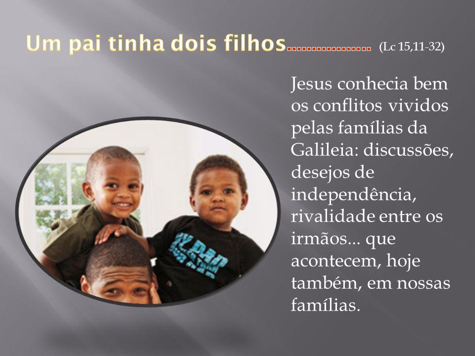 Um pai tinha dois filhos................. (Lc 15,11-32)