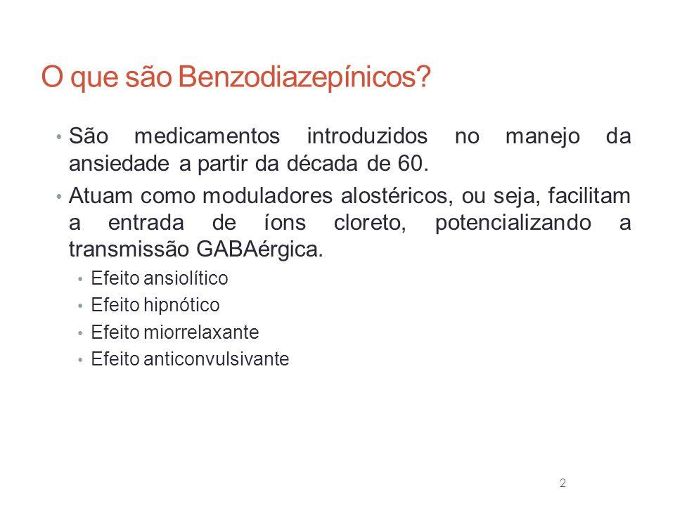 O que são Benzodiazepínicos