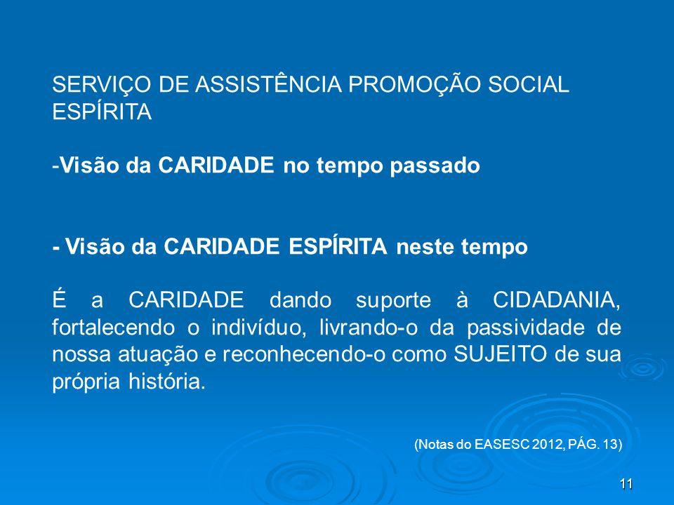 SERVIÇO DE ASSISTÊNCIA PROMOÇÃO SOCIAL ESPÍRITA