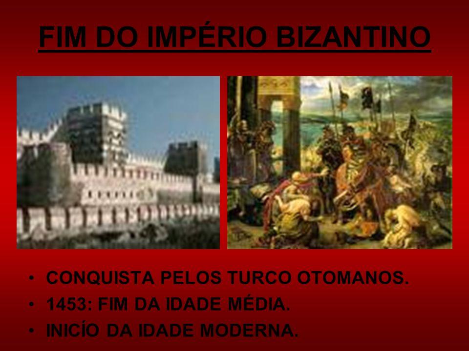 FIM DO IMPÉRIO BIZANTINO