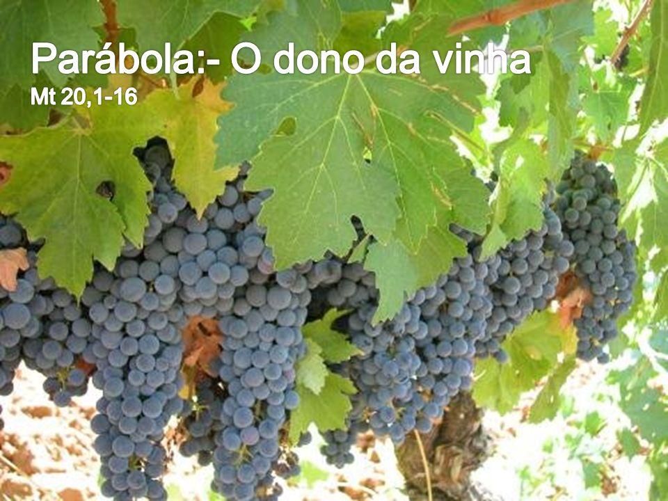 Parábola:- O dono da vinha