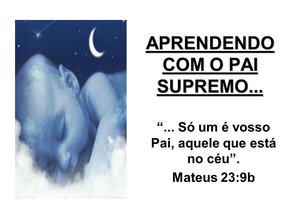 APRENDENDO COM O PAI SUPREMO...