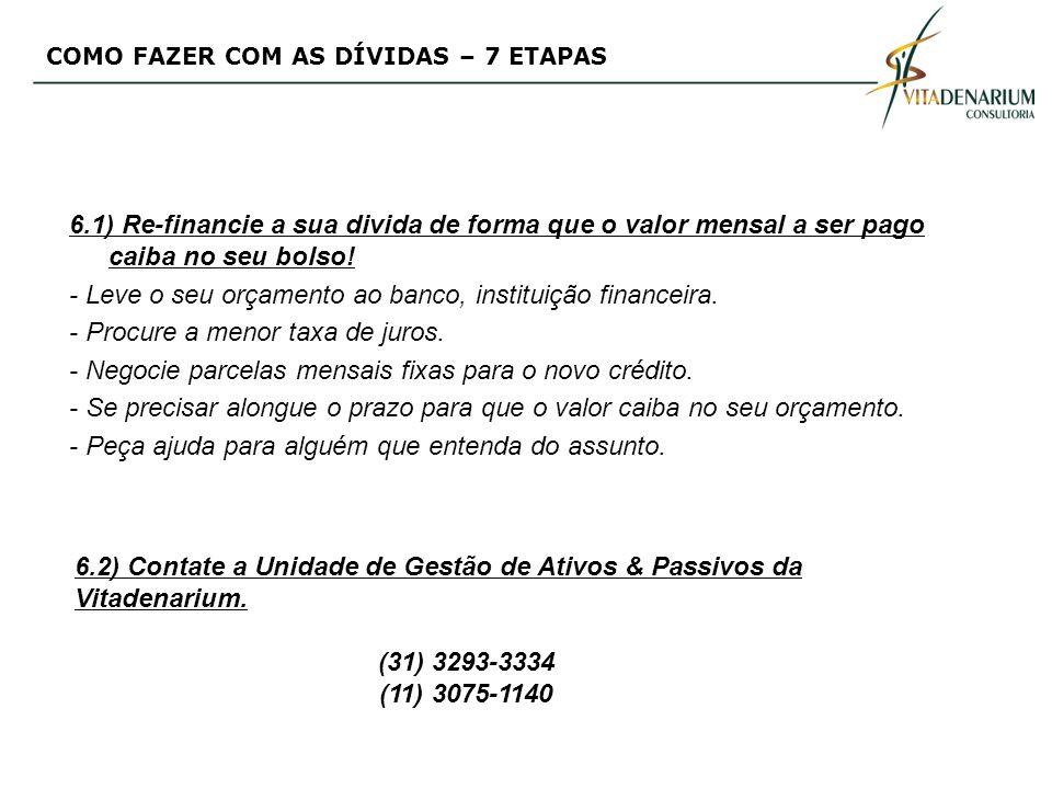 - Leve o seu orçamento ao banco, instituição financeira.