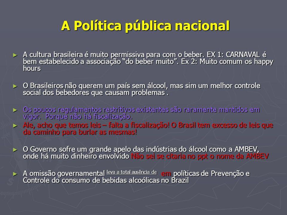 A Política pública nacional