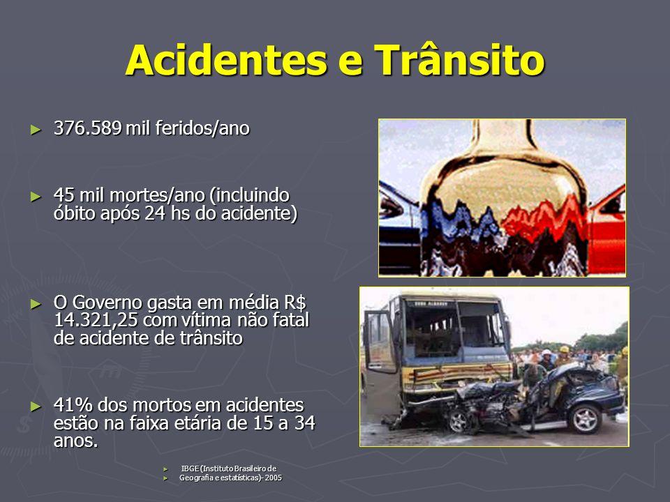 Acidentes e Trânsito 376.589 mil feridos/ano
