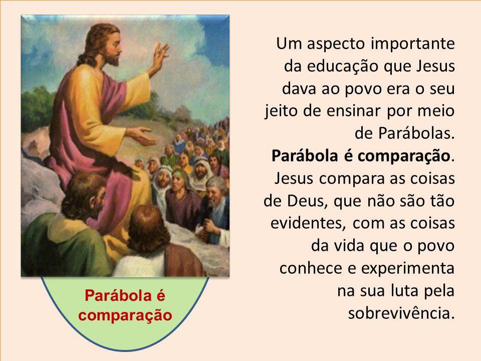 Um aspecto importante da educação que Jesus dava ao povo era o seu jeito de ensinar por meio de Parábolas.