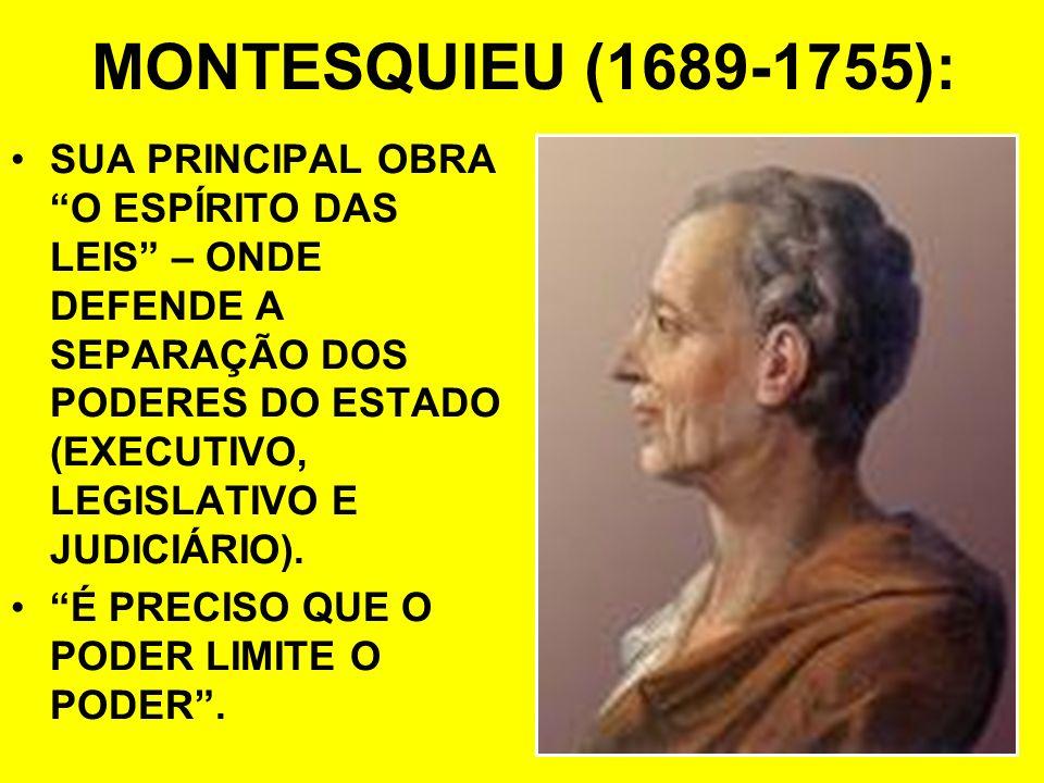 MONTESQUIEU (1689-1755):