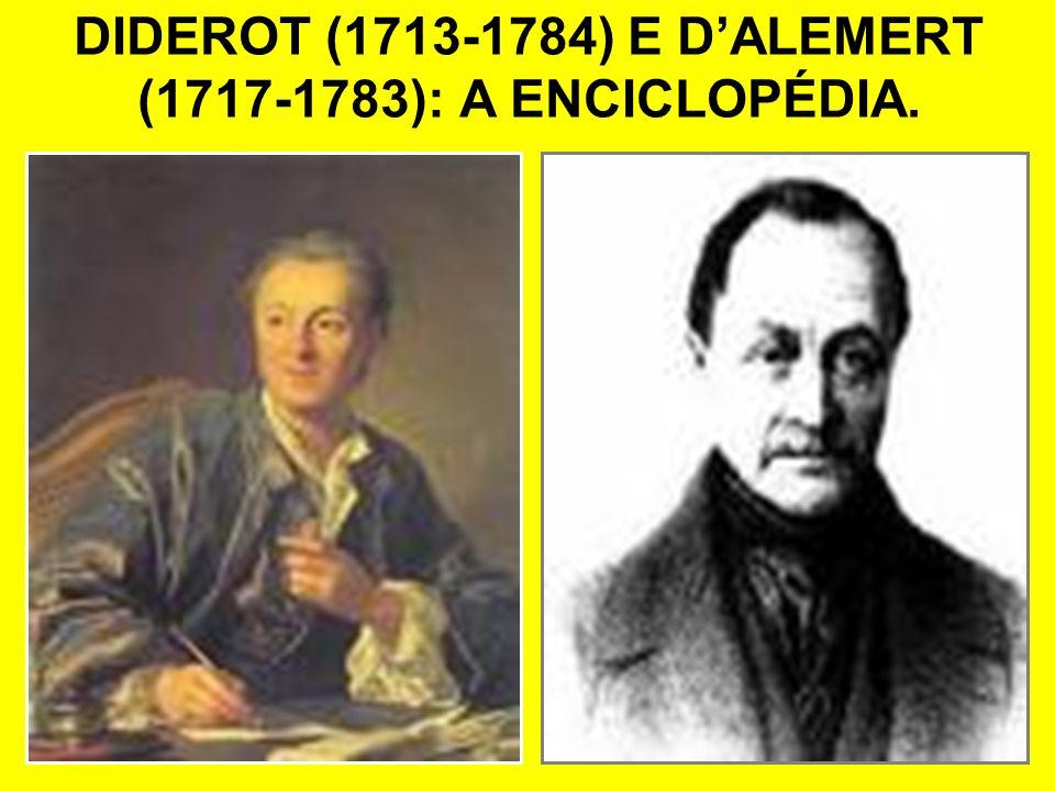 DIDEROT (1713-1784) E D'ALEMERT (1717-1783): A ENCICLOPÉDIA.