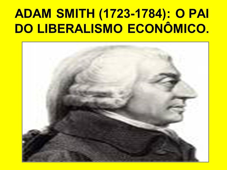 ADAM SMITH (1723-1784): O PAI DO LIBERALISMO ECONÔMICO.