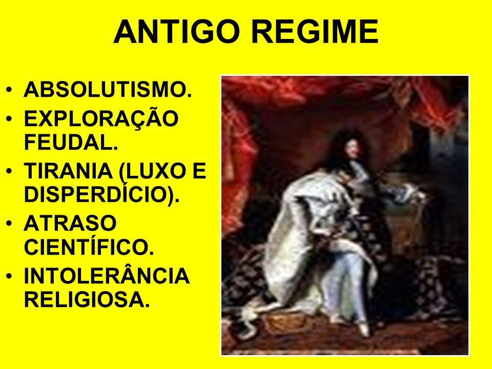 ANTIGO REGIME ABSOLUTISMO. EXPLORAÇÃO FEUDAL.