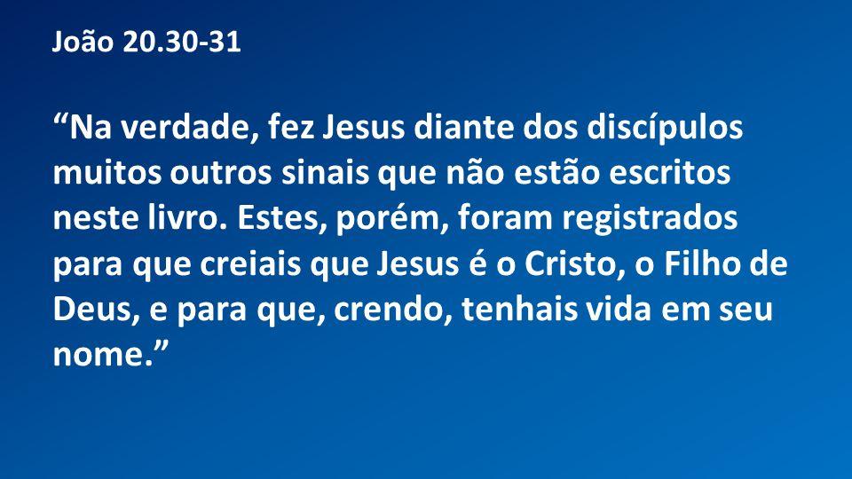 João 20.30-31