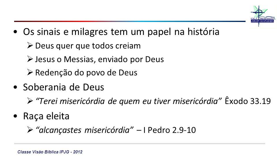 Os sinais e milagres tem um papel na história