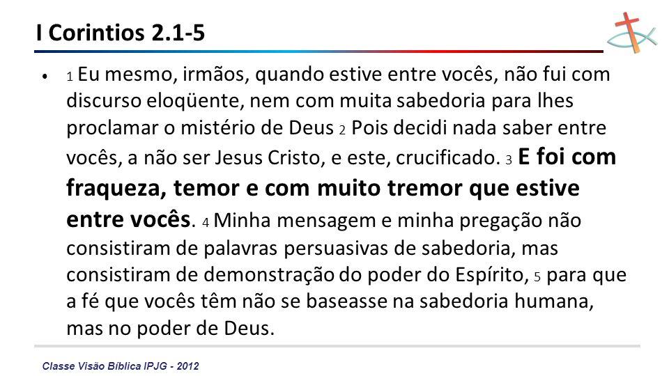 I Corintios 2.1-5