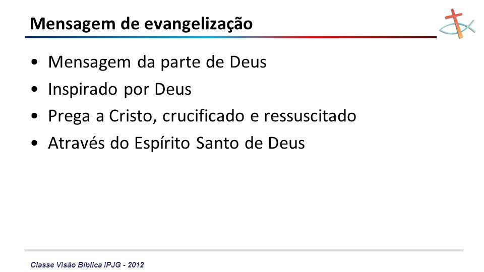 Mensagem de evangelização