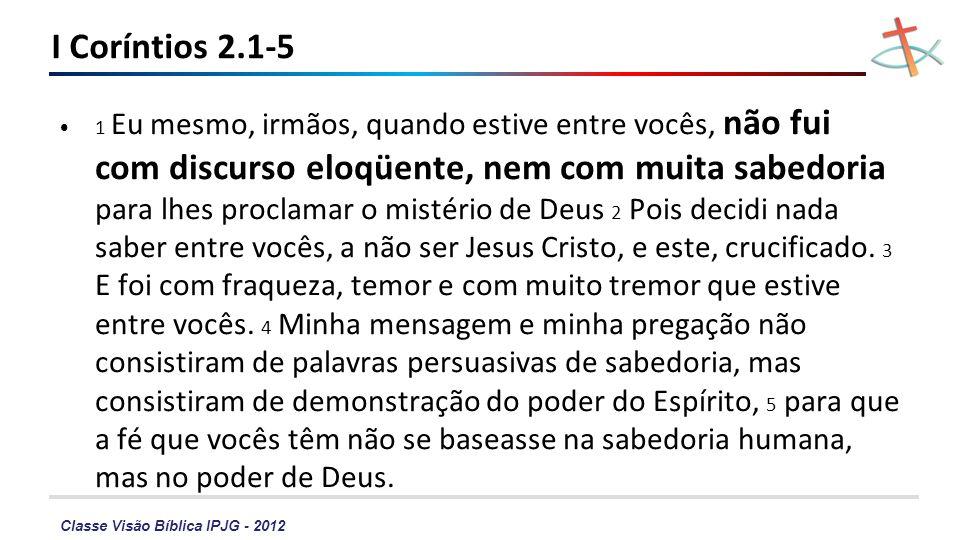 I Coríntios 2.1-5