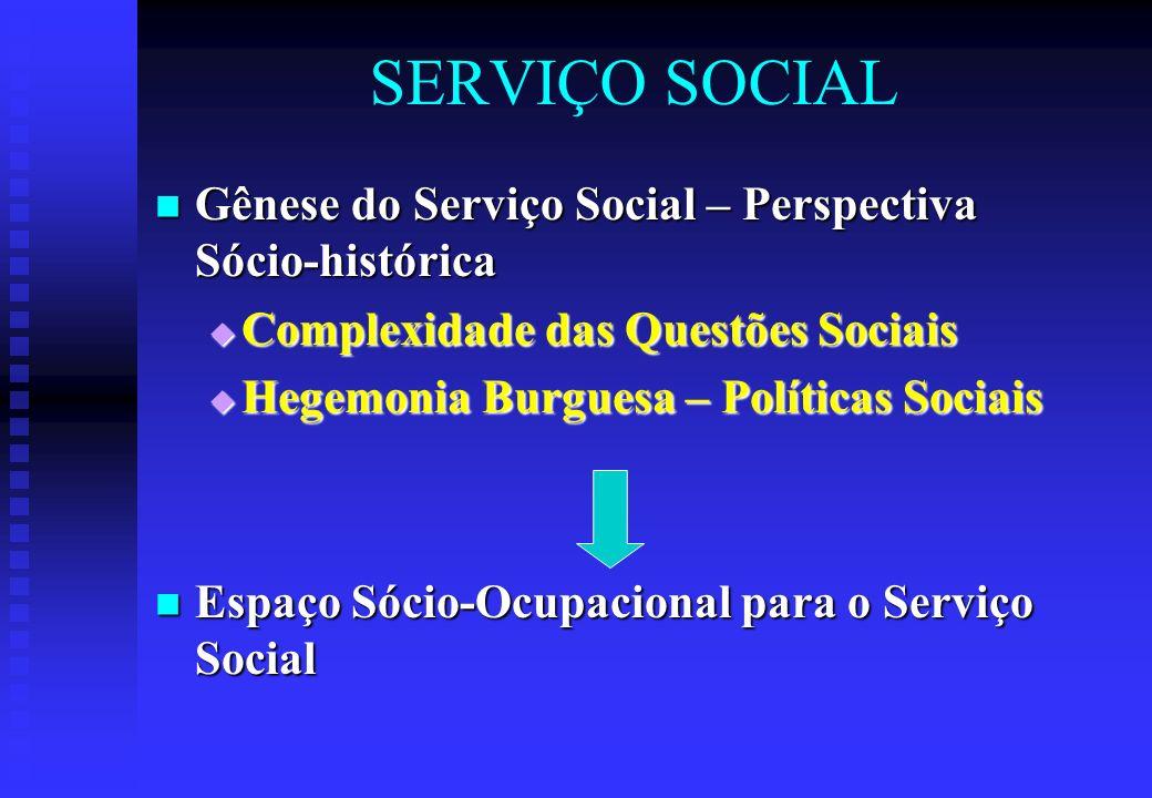 SERVIÇO SOCIAL Gênese do Serviço Social – Perspectiva Sócio-histórica