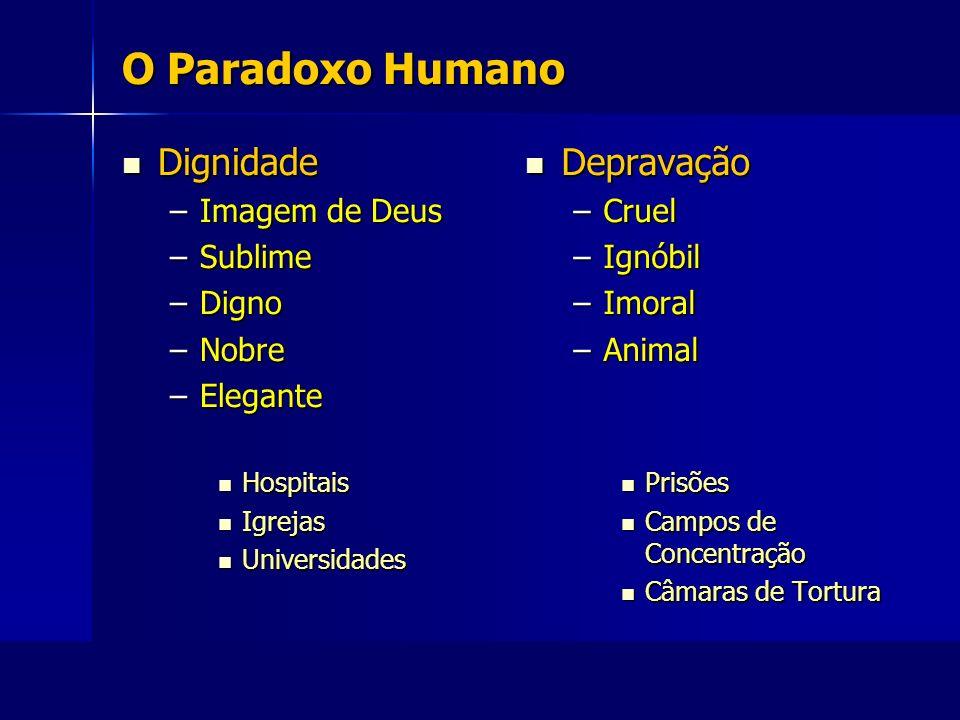 O Paradoxo Humano Dignidade Depravação Imagem de Deus Sublime Digno