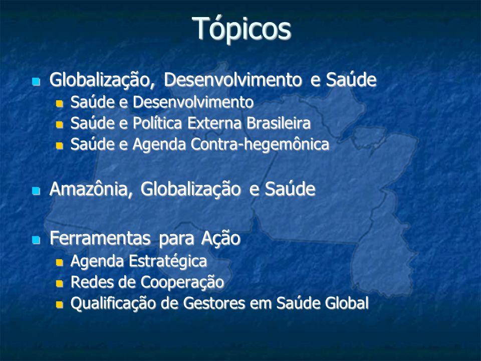 Tópicos Globalização, Desenvolvimento e Saúde