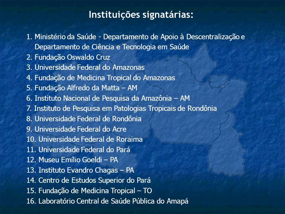 Instituições signatárias: