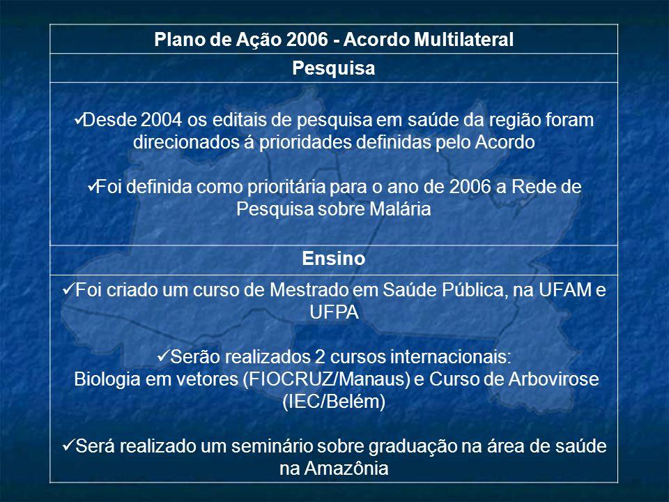 Plano de Ação 2006 - Acordo Multilateral