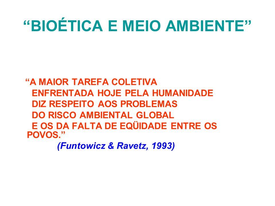 BIOÉTICA E MEIO AMBIENTE
