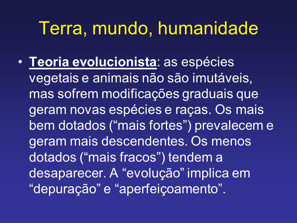 Terra, mundo, humanidade