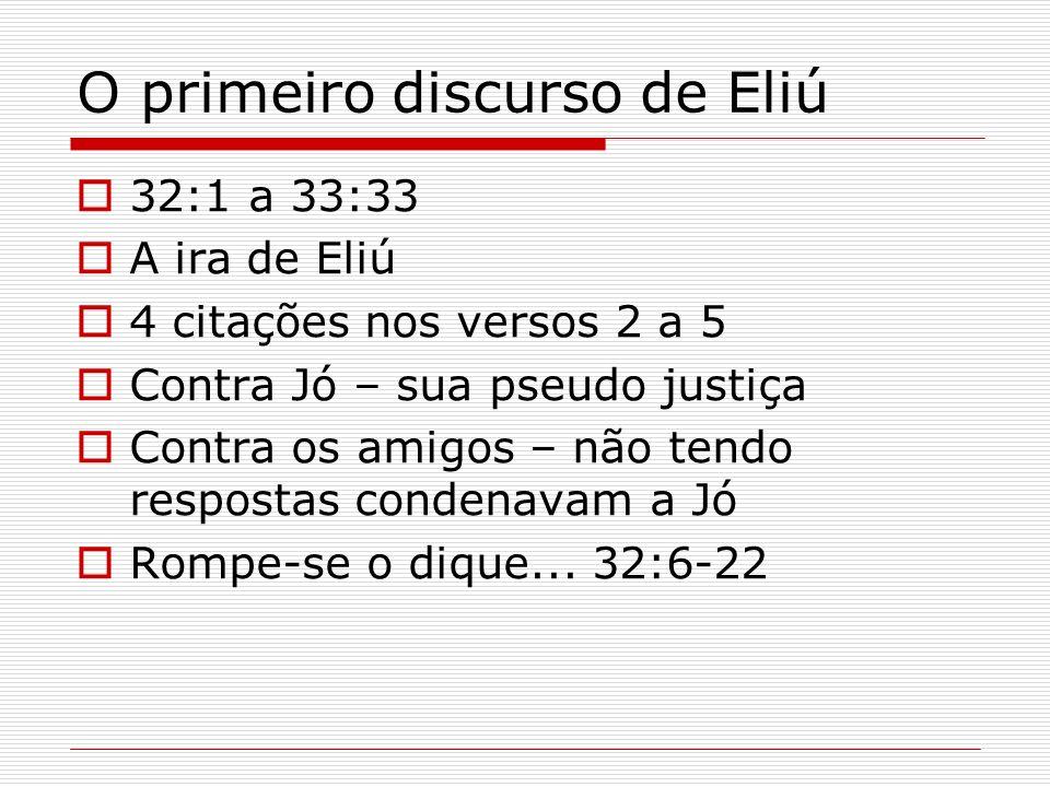O primeiro discurso de Eliú