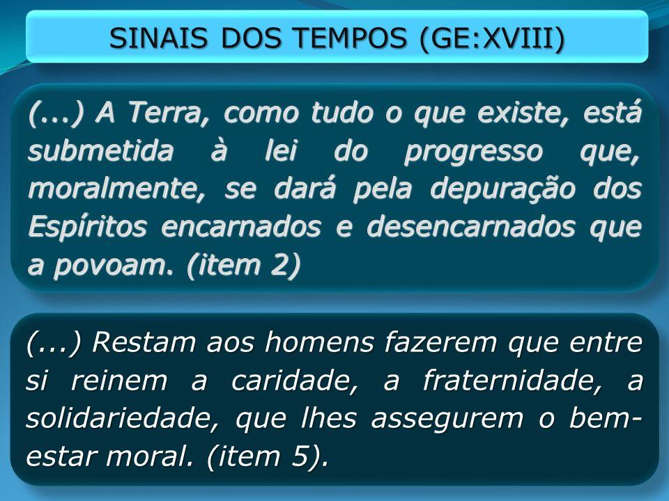 SINAIS DOS TEMPOS (GE:XVIII)