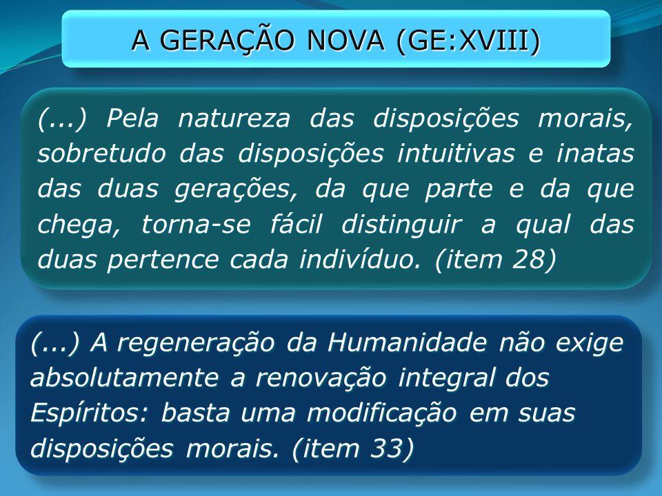 A GERAÇÃO NOVA (GE:XVIII)