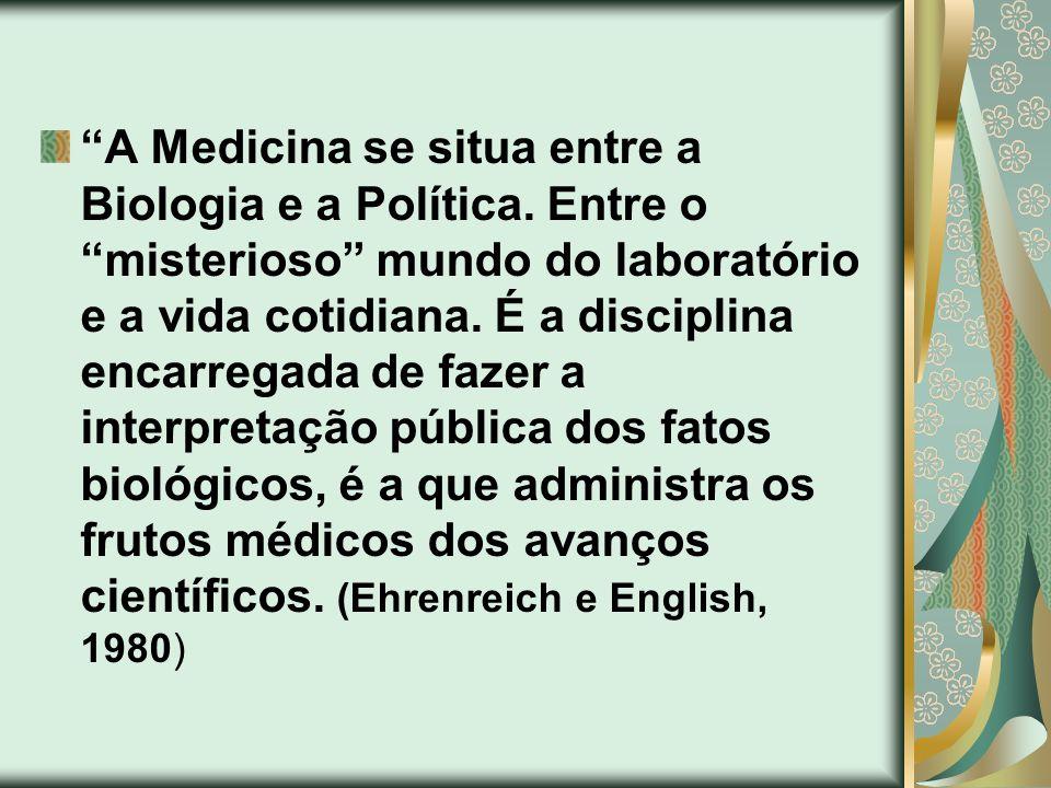 A Medicina se situa entre a Biologia e a Política