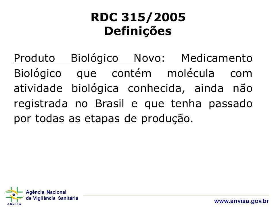 RDC 315/2005 Definições