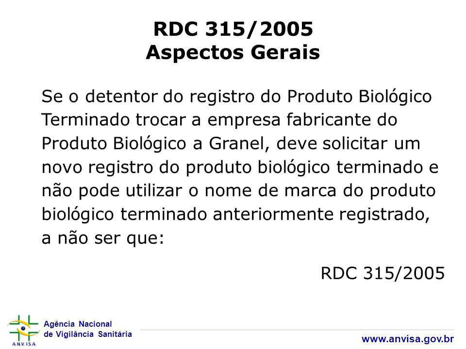 RDC 315/2005 Aspectos Gerais