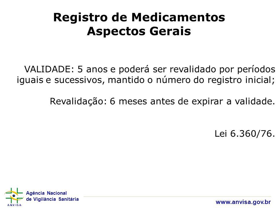 Registro de Medicamentos Aspectos Gerais