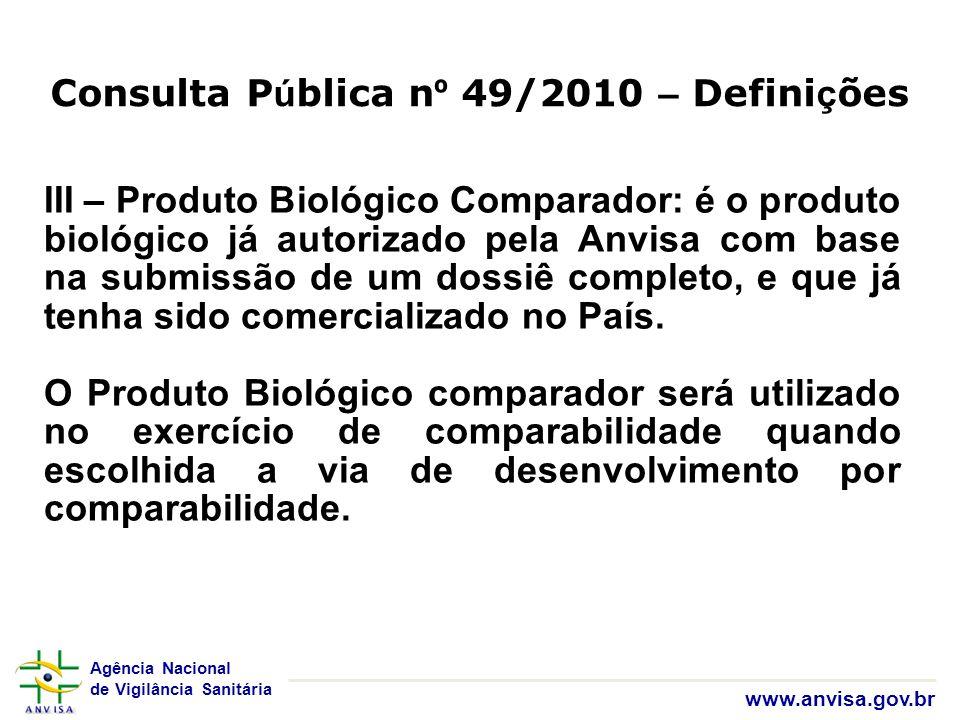 Consulta Pública nº 49/2010 – Definições
