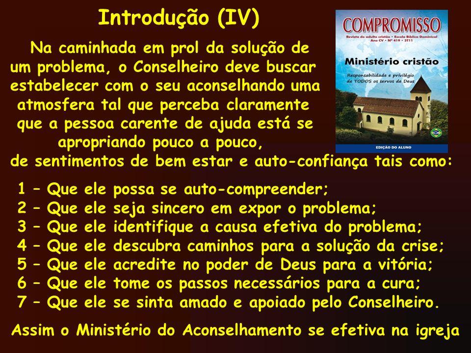 Assim o Ministério do Aconselhamento se efetiva na igreja