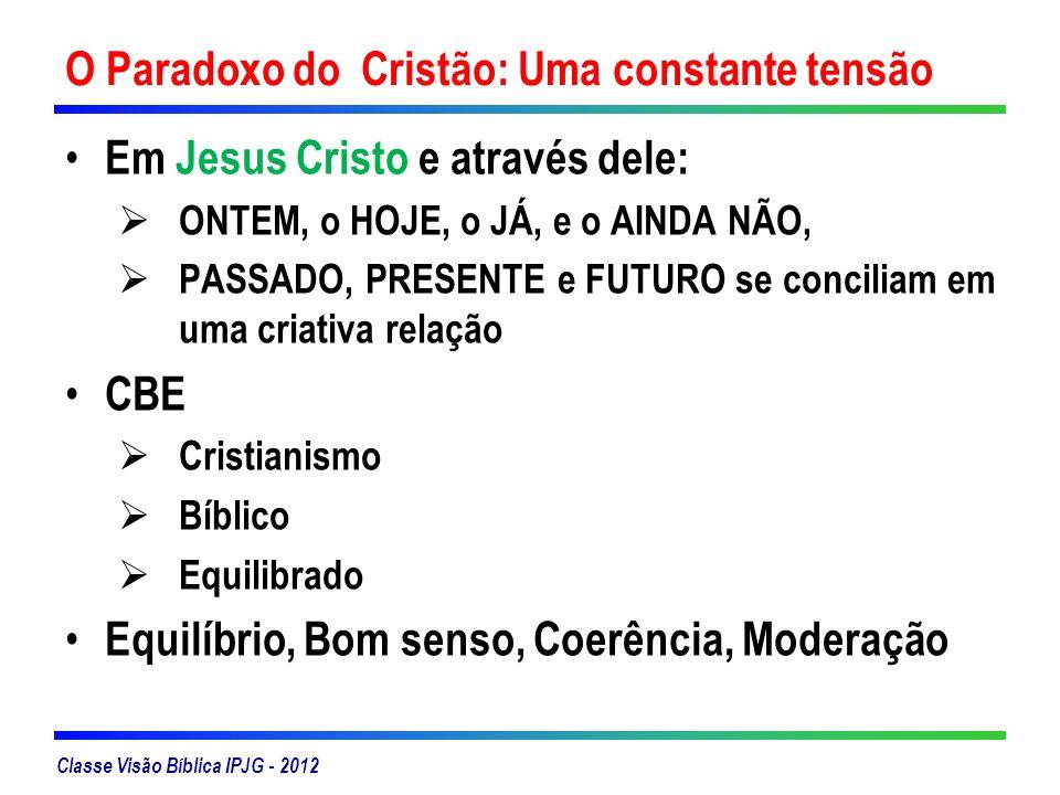 O Paradoxo do Cristão: Uma constante tensão