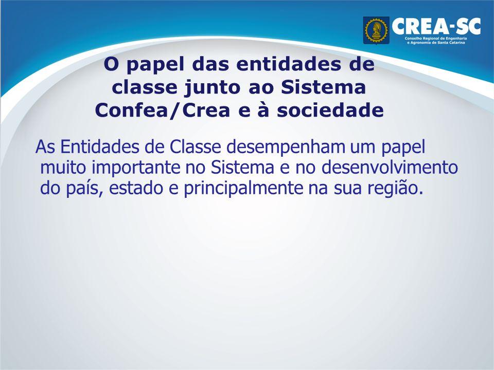 O papel das entidades de classe junto ao Sistema Confea/Crea e à sociedade